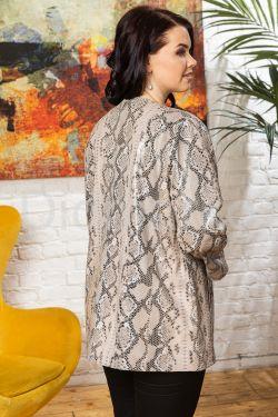 Роскошная кожаная куртка из питона больших размеров YIRMAK