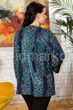 Яркая кожаная куртка больших размеров Y.IRMAK