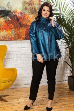 Синяя кожаная куртка для женщин jesinta