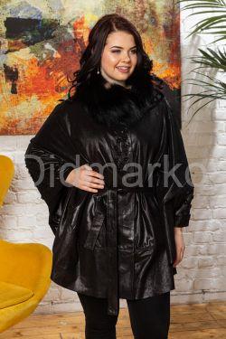Роскошное пончо черного цвета