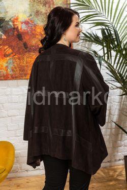 Облегченная женская куртка из замши