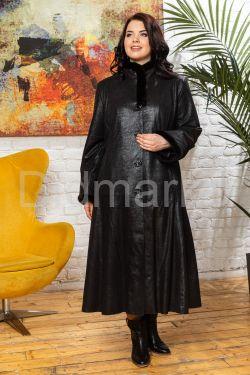 Кожаное пальто больших размеров HuremViz