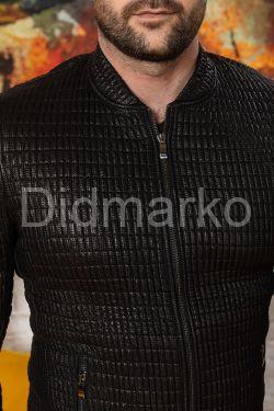 Мужская кожаная куртка со стрейчем