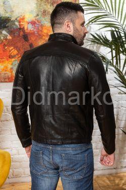 Мужская кожаная куртка короткая