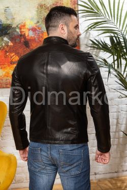Куртка кожаная мужская укороченная