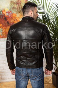 Трендовая мужская кожаная куртка