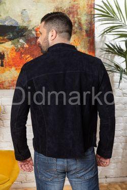 Мужская облегченная куртка из замши черного цвета