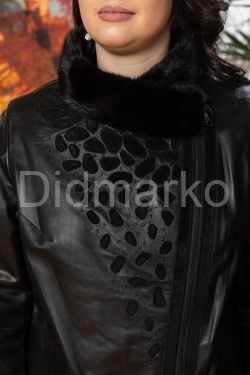 Кожаная куртка со съемным мехом
