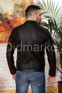 Мужская кожаная куртка на весну