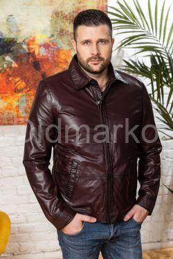 Весенняя кожаная куртка для мужчин
