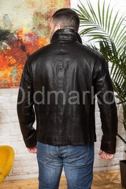 Стильная мужская короткая кожаная куртка