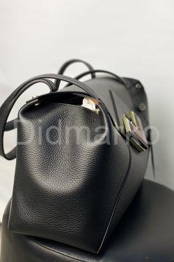 Черная сумка из натуральной кожи GIRONACCI