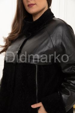 Комбинированная куртка  с мехом астраган