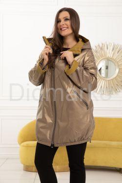 Удлиненная кожаная куртка с капюшоном 2020