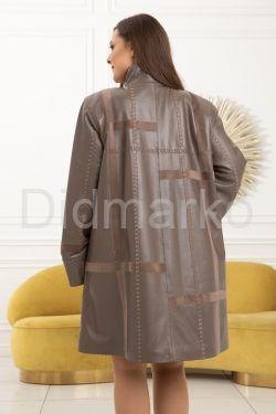 Комбинированный кожаный плащ  BERFIN100
