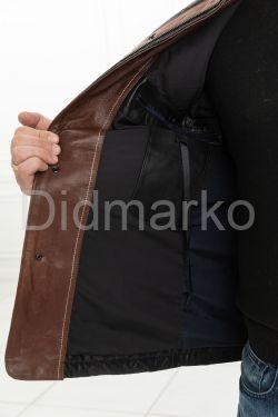 Мужская стеганая кожаная куртка