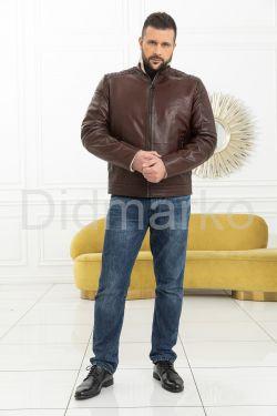 Мужская короткая дубленка цвета