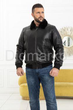 Мужская дубленка на резинке