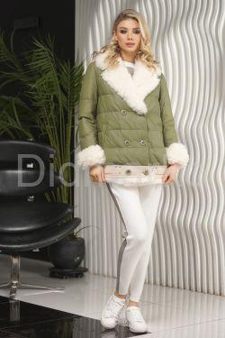 Двубортная куртка на теплую зиму