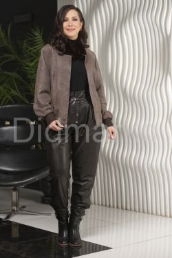 Женская куртка из замши с мехом