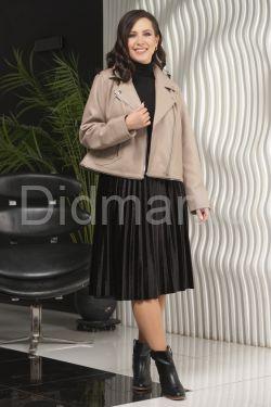 Женская кожаная куртка больших размеров-трансформер