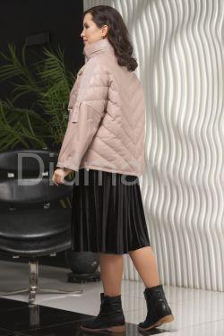 Демисезонная кожаная куртка больших размеров Весна 2021