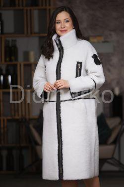 Женская стильная двусторонняя дубленка