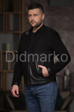 Замшевая мужская куртка - деграде