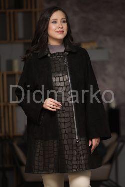 Удлиненная трапециевидная куртка из замши