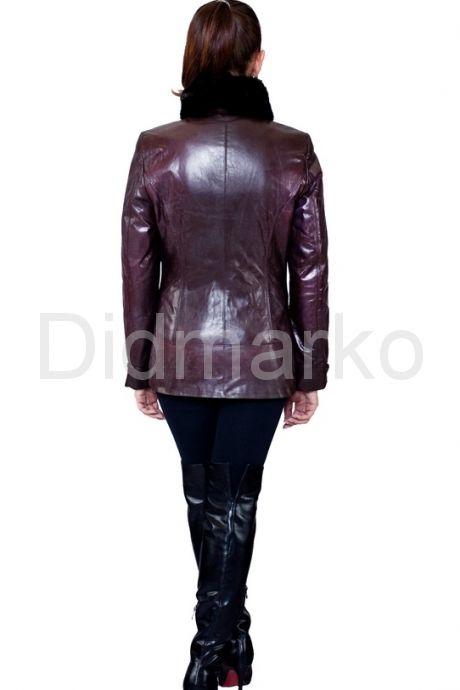 Элегантная куртка с воротником из меха норки. Фото 2.