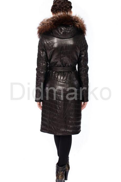 Оригинальное кожаное пальто. Фото 3.