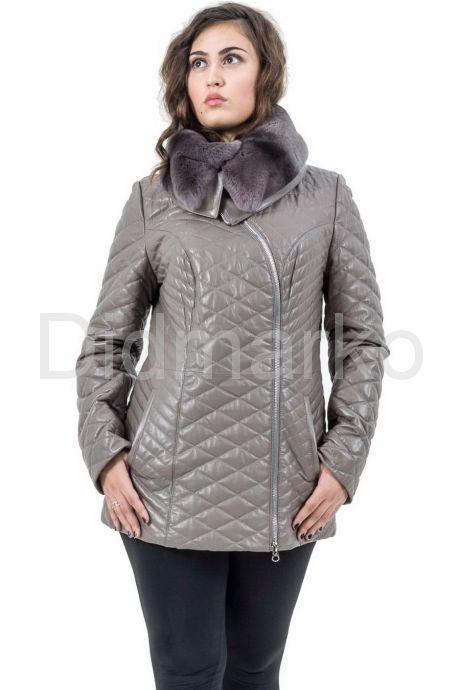 Стеганая кожаная куртка. Фото 1.