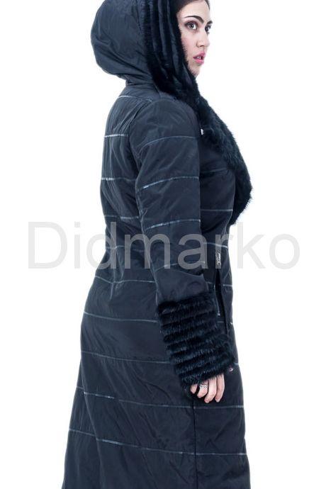 Демисезонное пальто черного цвета. Фото 2.