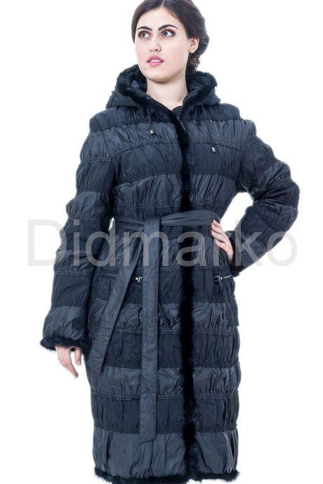 Комбинированное пальто. Фото 1.