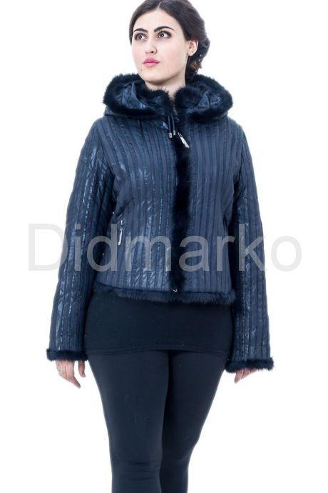 Куртка с отделкой норки. Фото 1.
