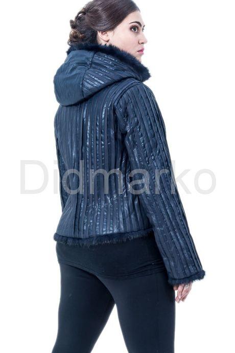Куртка с отделкой норки. Фото 2.
