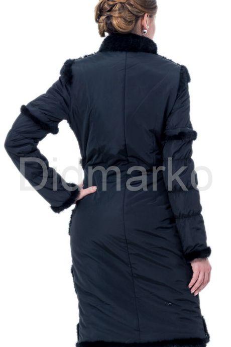 Приталенное пальто с отстегивающимися рукавами