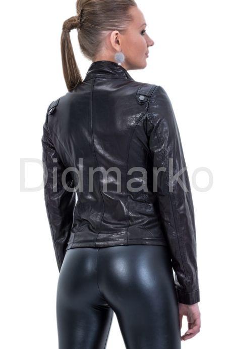 Черная кожаная куртка-косуха. Фото 4.