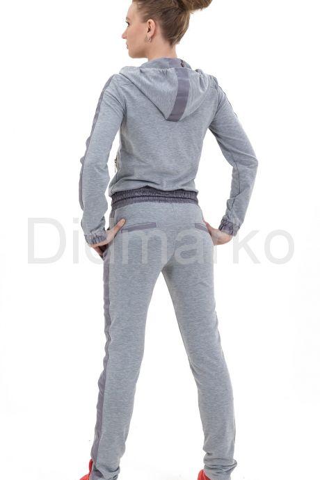 Спортивный костюм серого цвета с капюшоном. Фото 3.