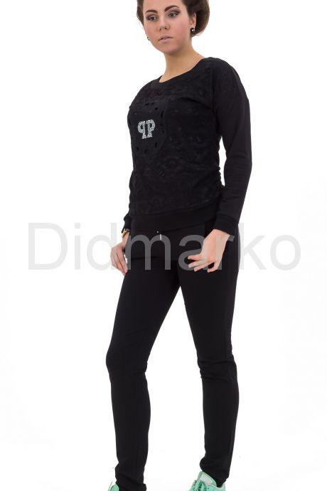 Спортивный костюм черного цвета. Фото 1.