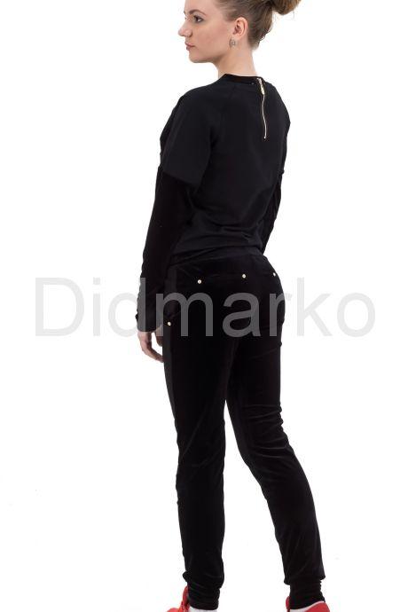 Комбинированный спортивный костюм со стразами. Фото 2.