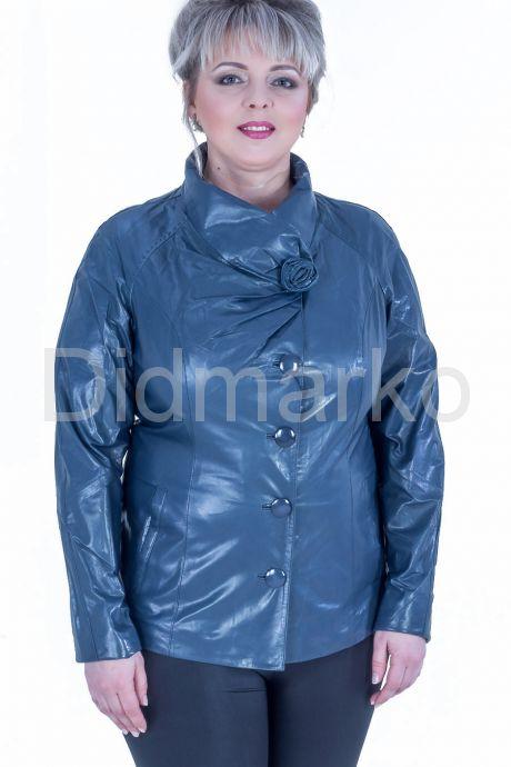 Синяя кожаная куртка. Фото 1.
