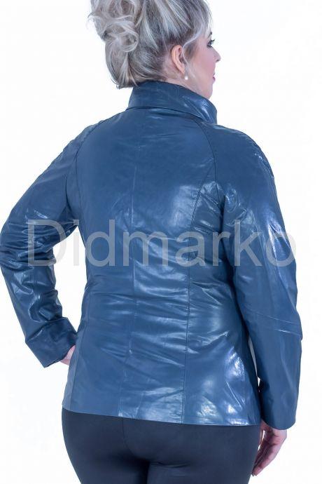 Синяя кожаная куртка. Фото 2.