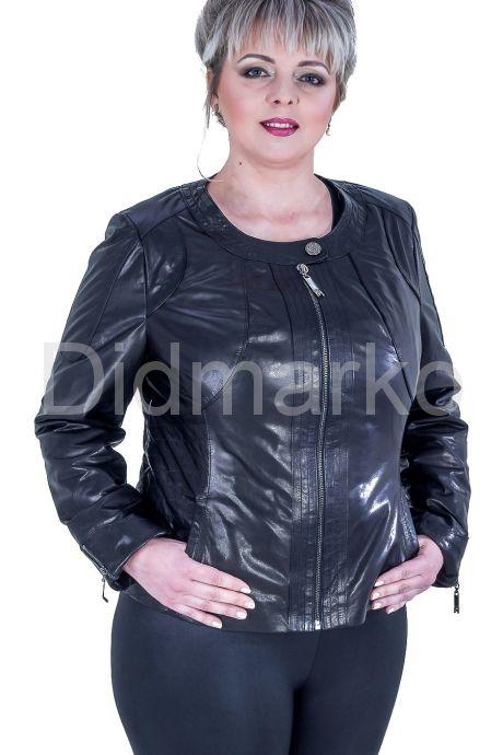 Короткая куртка на молнии. Фото 1.