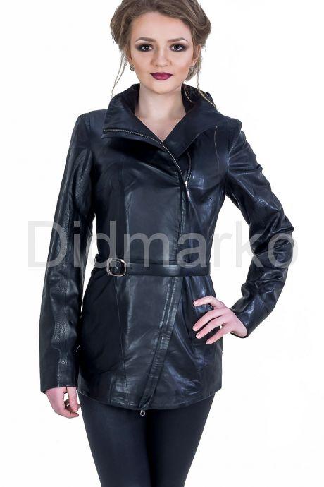 Удлиненная кожаная куртка. Фото 1.