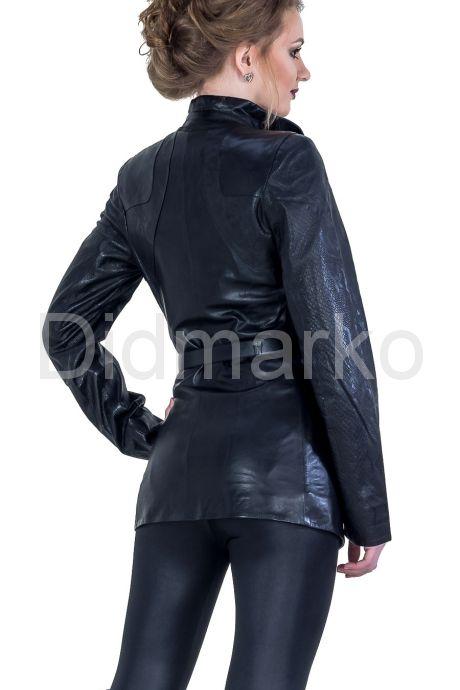 Удлиненная кожаная куртка. Фото 2.