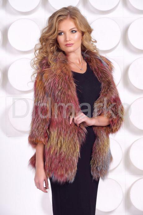 Оригинальный пиджак из вязаной лисы. Фото 3.