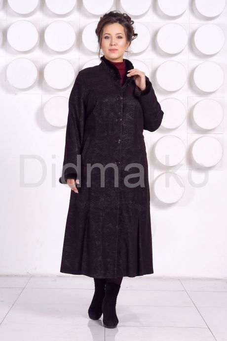 Длинное кожаное пальто RAFINNA. Фото 1.