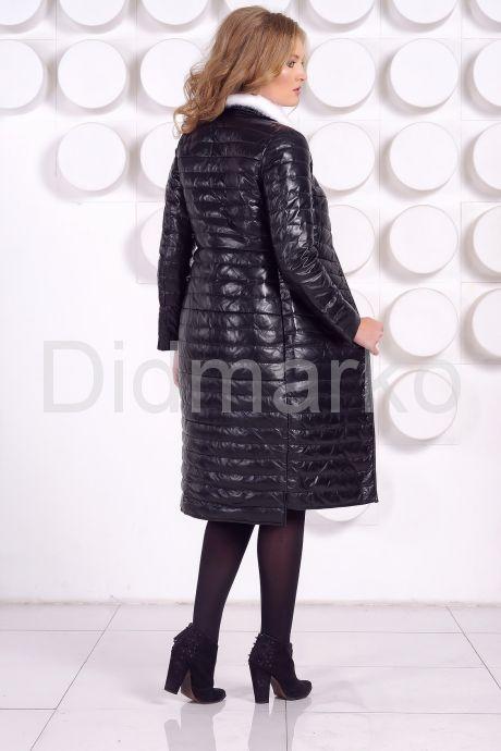 Длинное кожаное пальто. Фото 6.