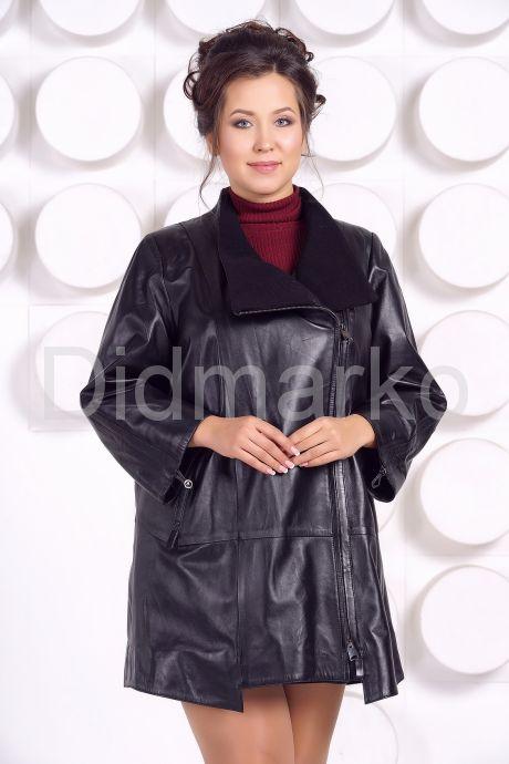 Кожаная куртка больших размеров BAYAN. Фото 2.